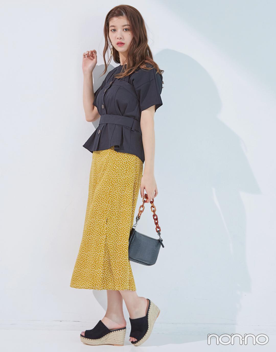 馬場ふみかが着る♡ 黒のシンプルTシャツの新鮮コーデ4選!_1_3-4
