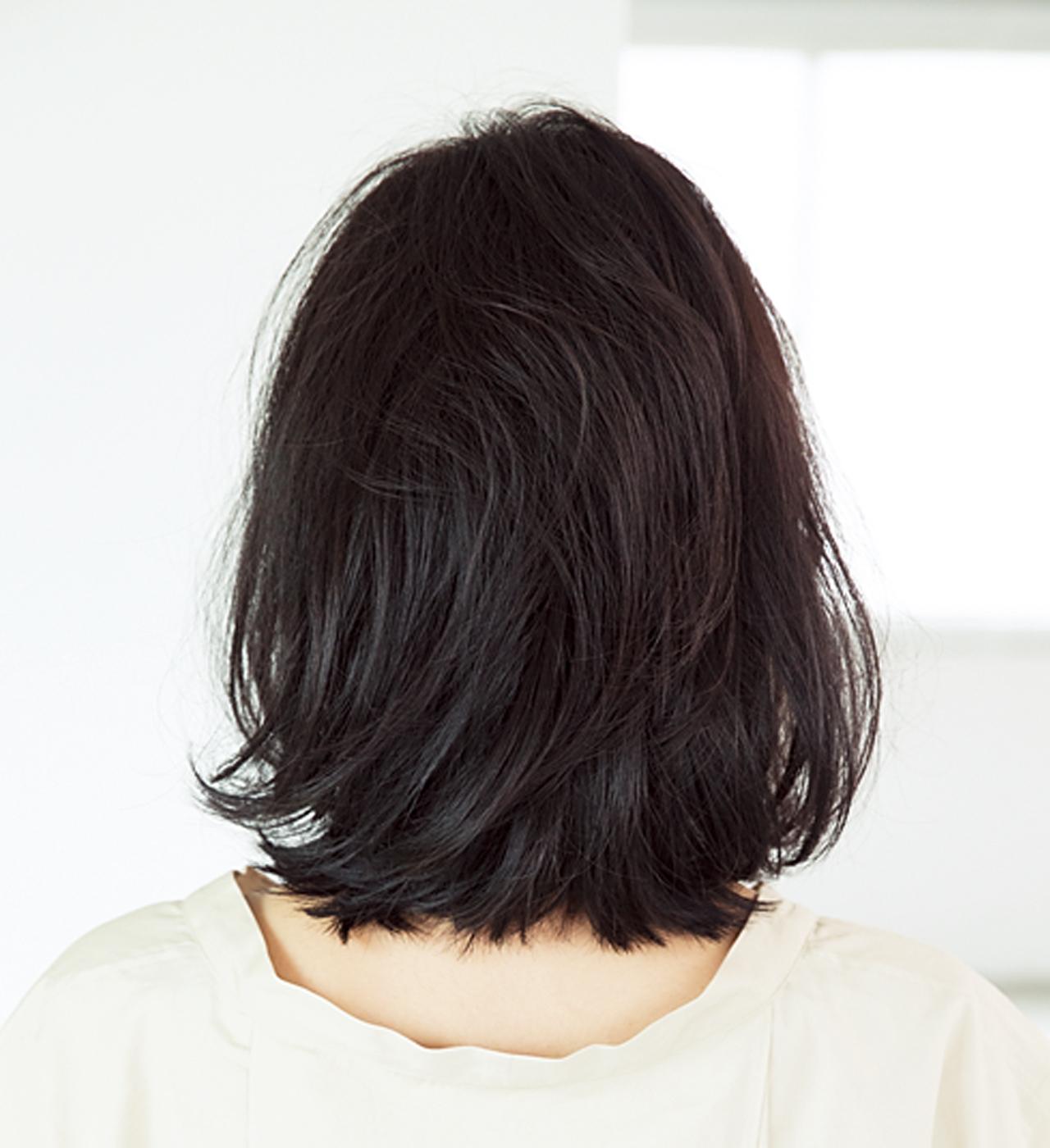髪がぺったりしてしまうお悩みを解消。ふんわりボブヘア【40代のボブヘア】_1_3
