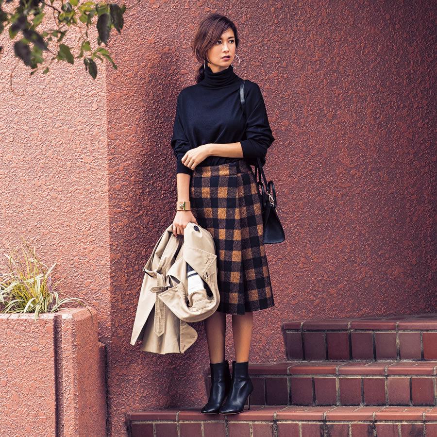 この冬、女っぷりが、ぐっとあがるのは、ひざ下レディスカート_1_1
