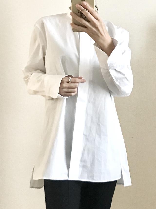 大人買いしたユニクロ+J③美女組でお揃い続出の白シャツ_1_2