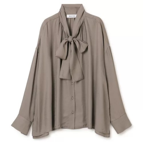 SACRA ボウタイシャツ/ TRIACE VINTAGE TWILL ¥24,200