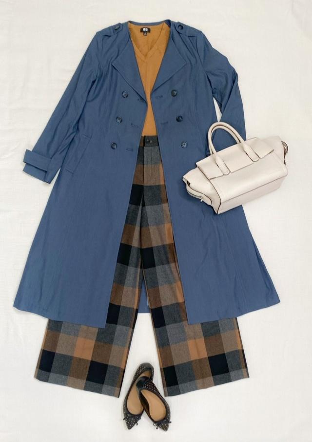 秋のトレンチコートはデニム風カラーで、一味違ったお洒落を♡_1_5