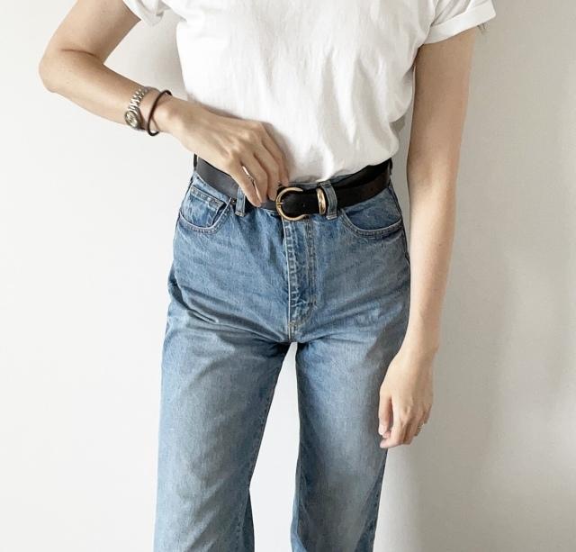 定番「白Tシャツ」の着こなしを更新! アラフォーがこなれて見えるコーデ術まとめ 40代ファッション_1_24