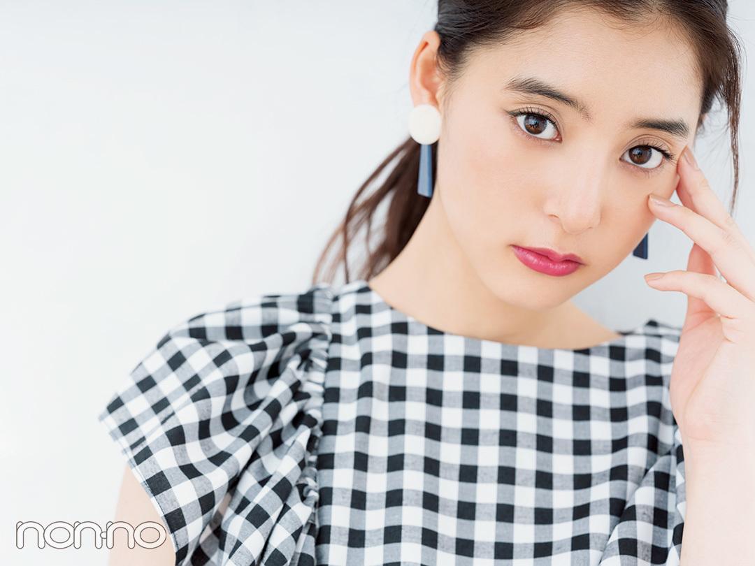甘めギンガムトップスは、メイクで大人っぽく! 新木優子のお姉さんメイクHOWTO♡ _1_1