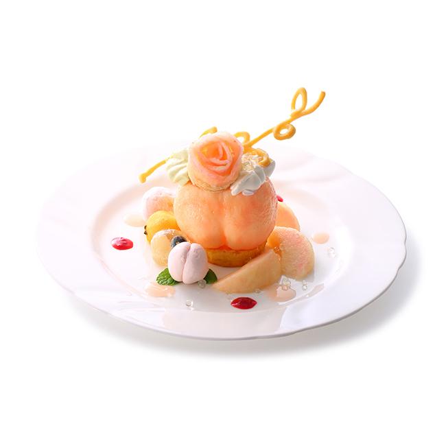 タカノフルーツパーラーの桃のプレートデザート