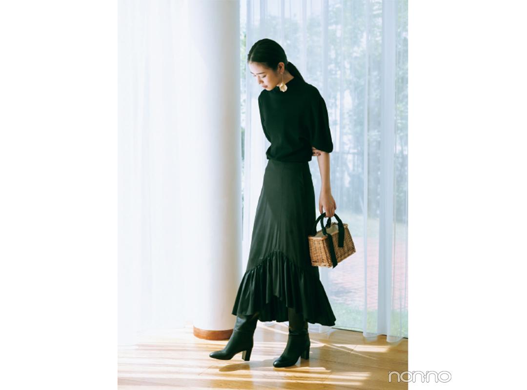 オールブラックコーデにはラメで抜け感をプラス♡【今日着る服×旬色メイクであか抜ける!⑤】_1_4