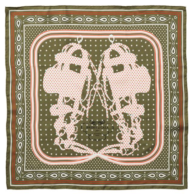 シルクバンダナ《ブリッド・ドゥ・ガラ》(55×55)¥28,600/エルメスジャポン(エルメス)