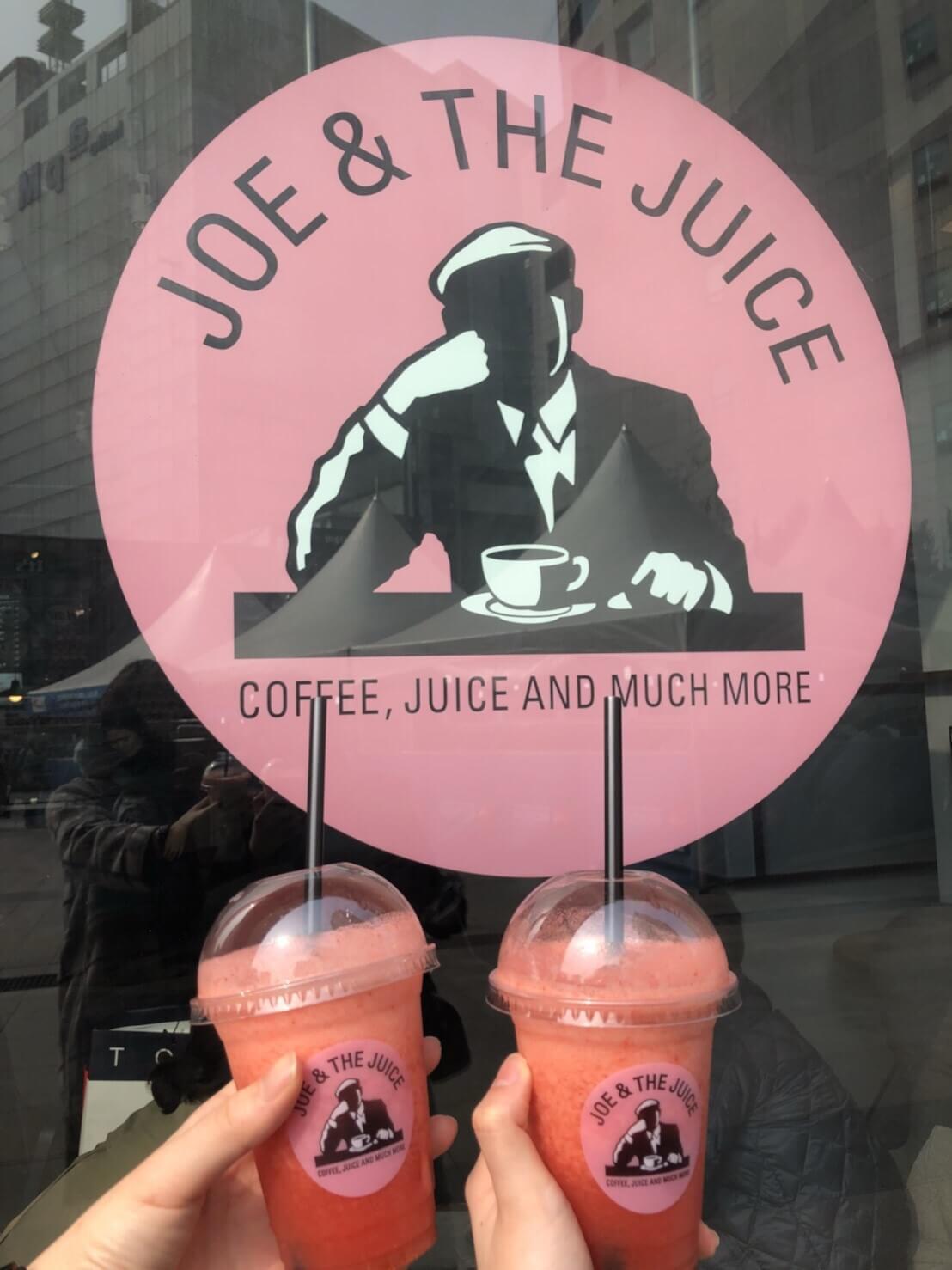 デンマーク発の「今日本にきて欲しいカフェNo.1」とも言われるJoe and the juiceもこのホテルの一階にあります。イケメン店員さんと、美味しいフレッシュジュースがポイント。