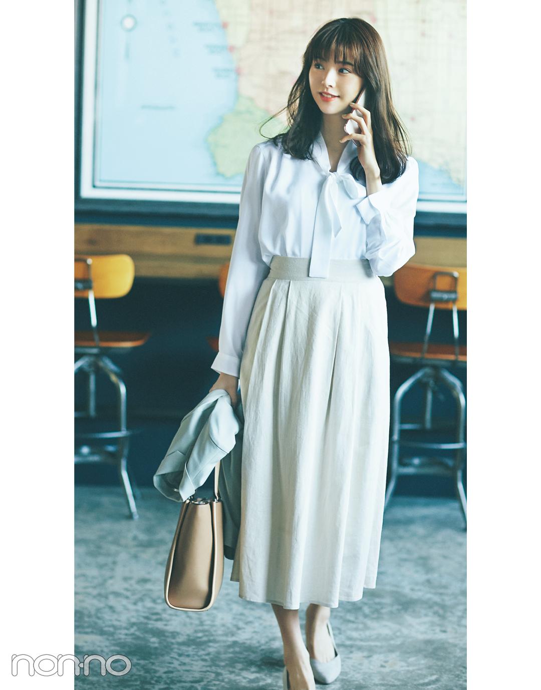 楽ちんなのにきれいめ&快適なスカートはこちら!【夏のオフィスコーデ】_1_3