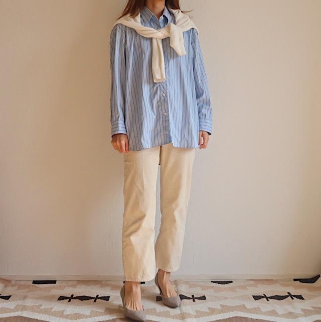 【今1990円】ユニクロユーのゆったりシャツは着るだけでサマになる大人シルエット_1_5