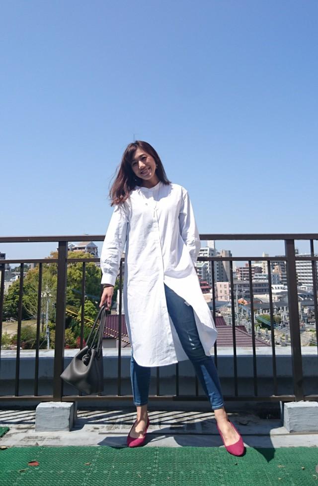 トレンドのバンドカラー。白シャツも新鮮!!!_1_2