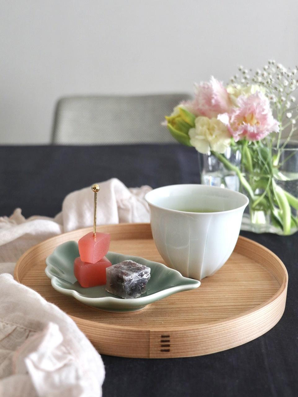 樽田裕史さんのゆらぎカップでお茶タイム