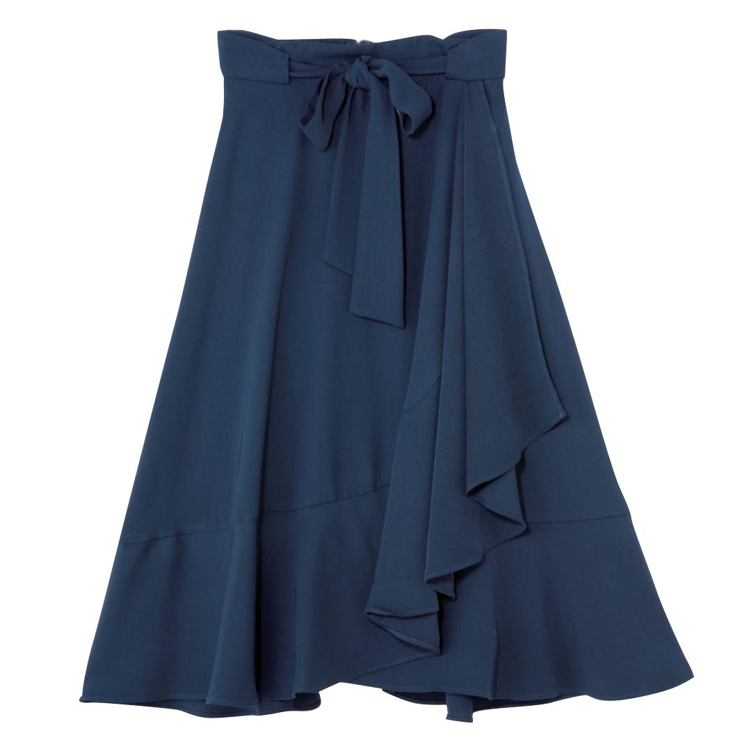 きれいめ派マスト! 秋はマーメイド風の裾フリルスカートが可愛いってウワサ★_1_3-2