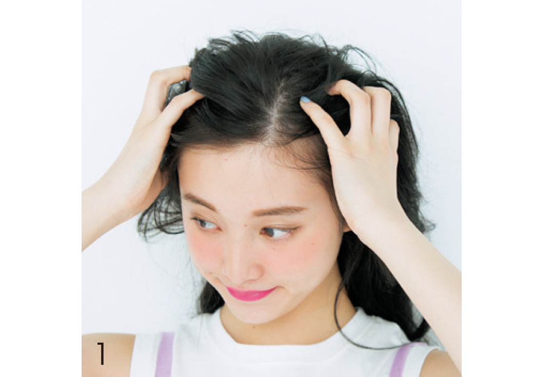 黒髪のヘアアレンジ★おでこ出しは、ワックスで3D感をプラスするのがカギ! _1_3-1