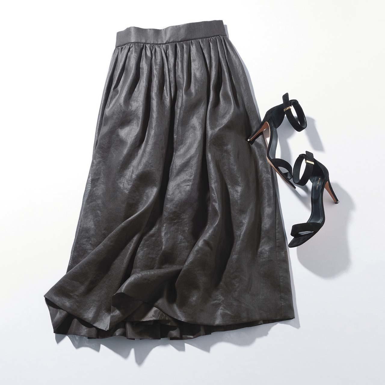 ロングスカートとサンダル