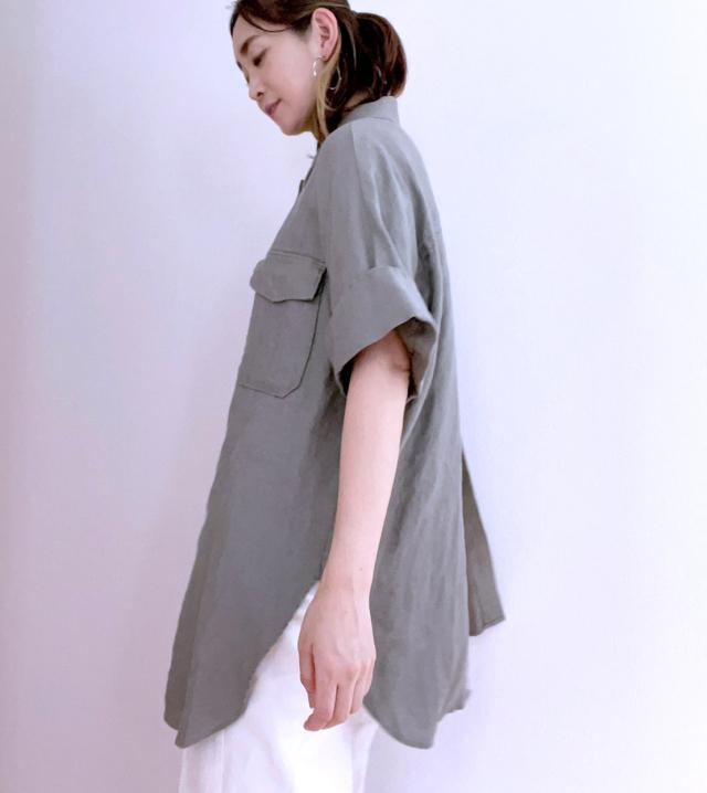 【Mila Owen】着回しが効くリネン100%のCPOジャケット_1_4