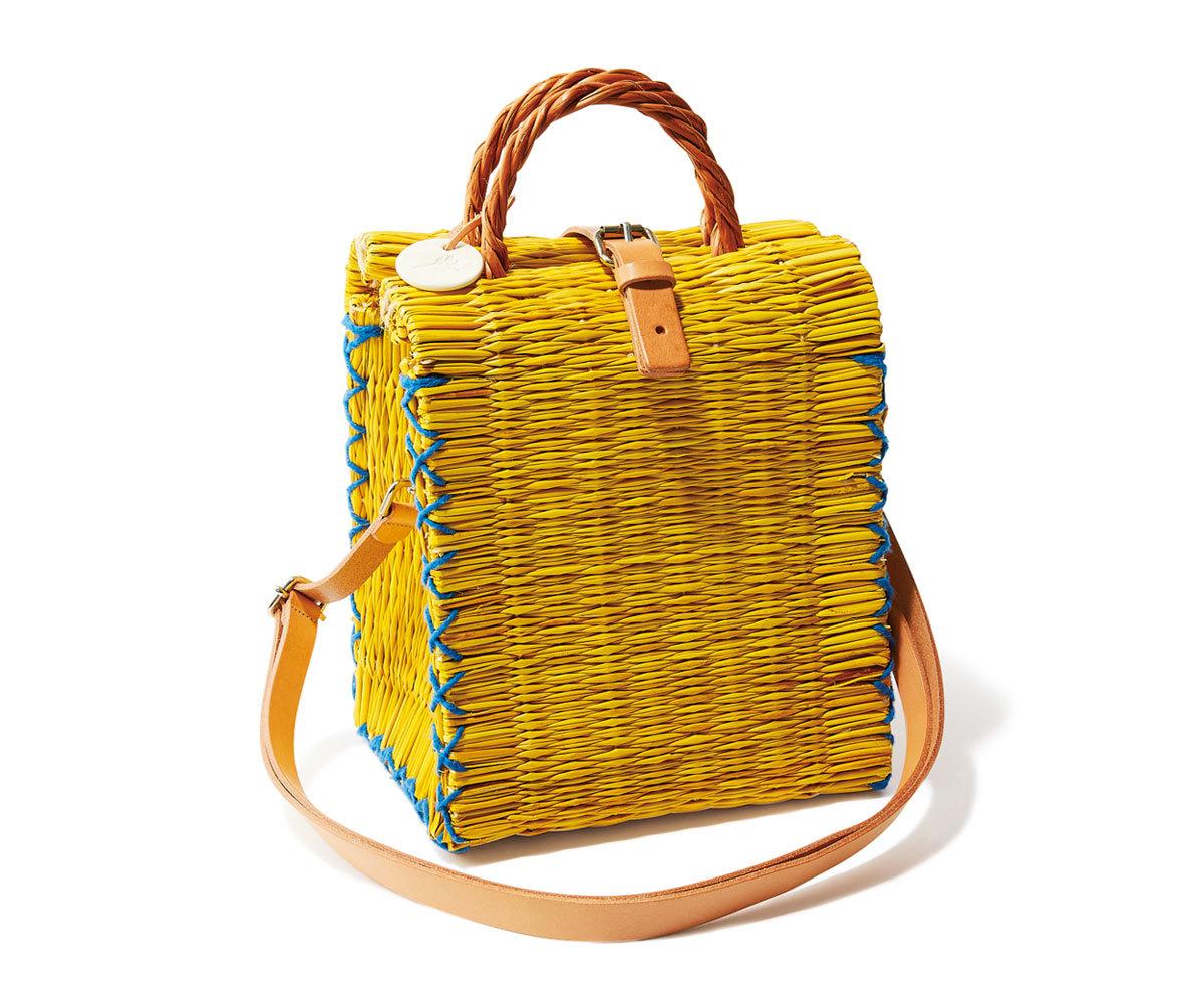 40代ファッション2019年夏のお買い物_Sergio Rossi & TOINO ABELのかっちりかごバッグ