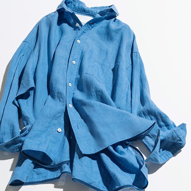 シャツ¥23,000/ティッカ