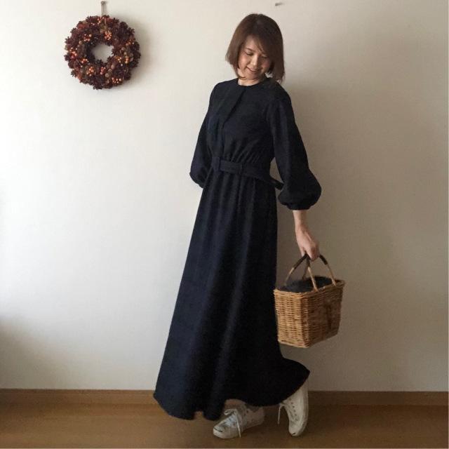 長身女子のロングスカート、着丈が短くなりがち問題。_1_1