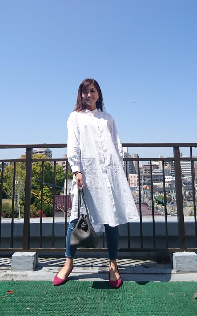 トレンドのバンドカラー。白シャツも新鮮!!!_1_1