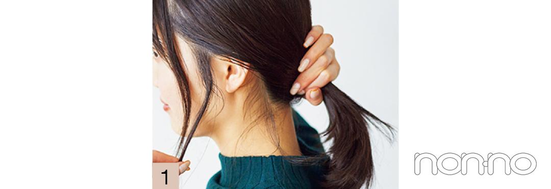 【ニット映えヘアアレ vol.6】リブ×帽子三つ編みで重心上げ_1_6