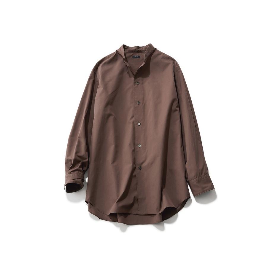 ファッション ロエフのブラウンシャツ