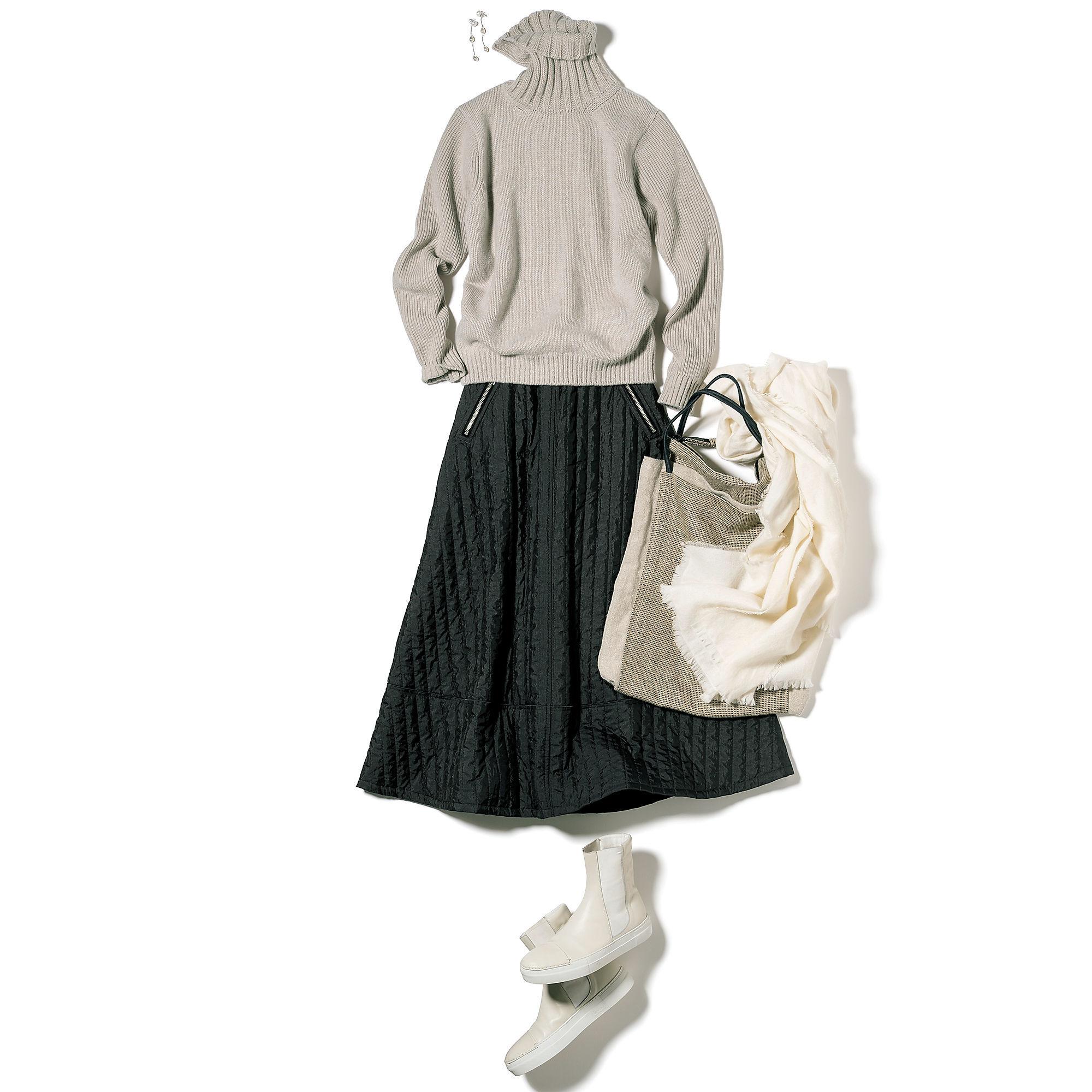 ジャストからゆったりまで「どう着る?」でサイズを選べる「SLOANE」のタートルニット_1_2