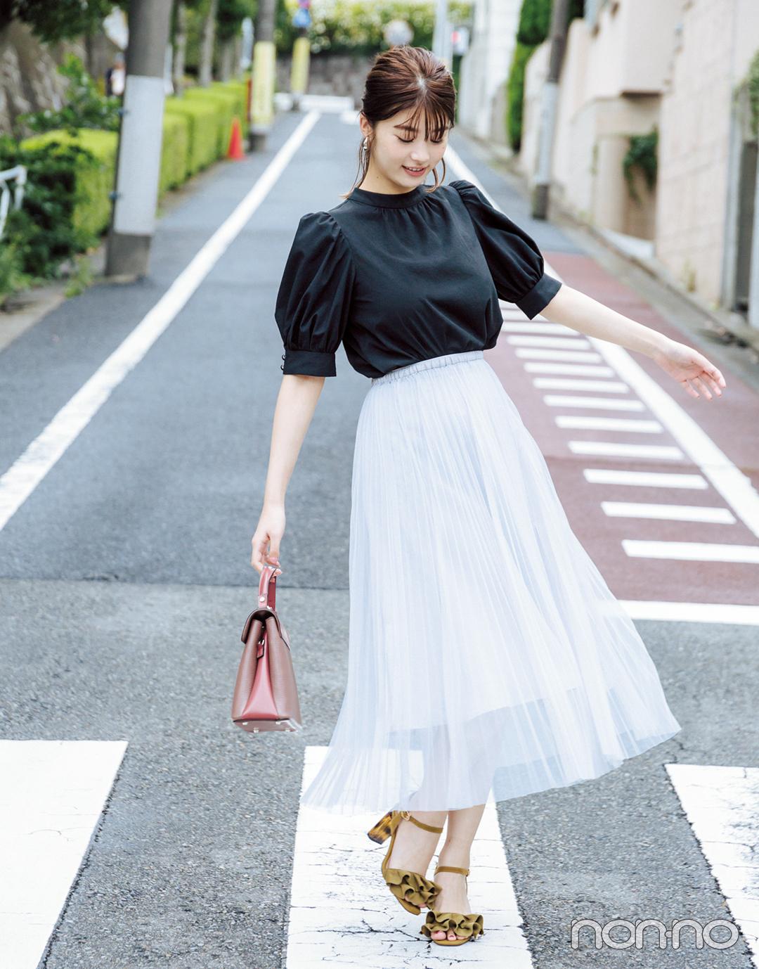 2019秋トレンド★ シフォン&チュールのスカートは秋のスタメン決定!_1_2-5