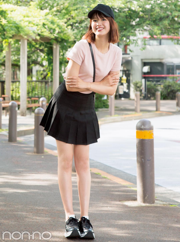 ユニクロだってこんなにおしゃれ☆ノンノモデルの私服Tシャツコーデ_1_1-5