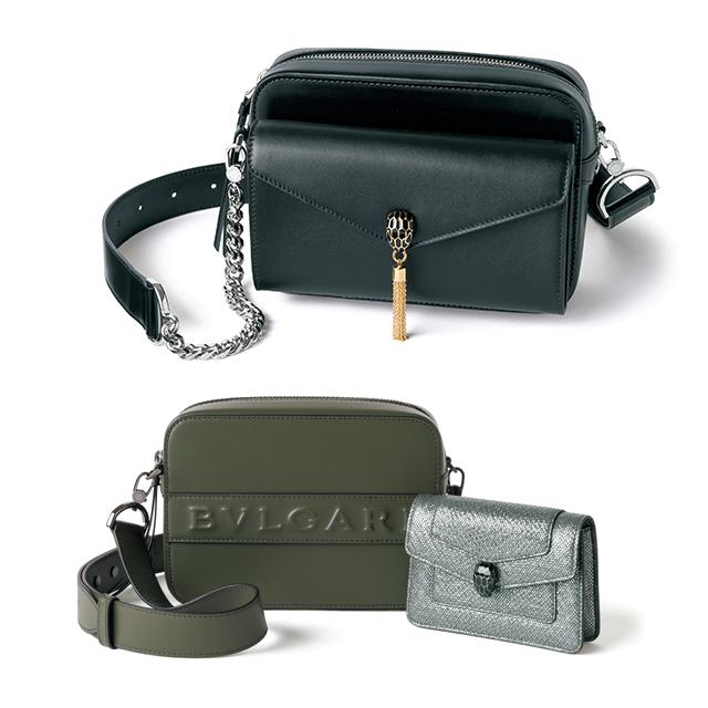 ショルダーバッグに ポシェットが装着できる 「ブルガリ」の新作