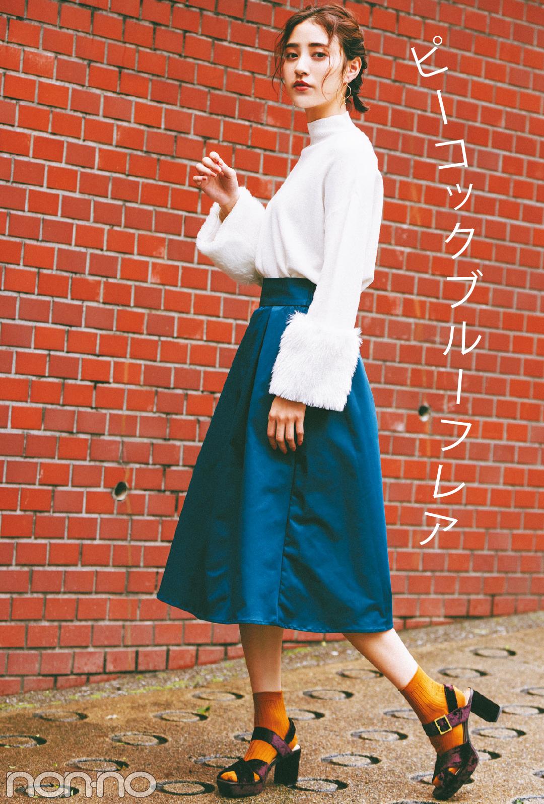 GUの秋色&チェックのミディスカート、最新コーデ3選!_1_1-2
