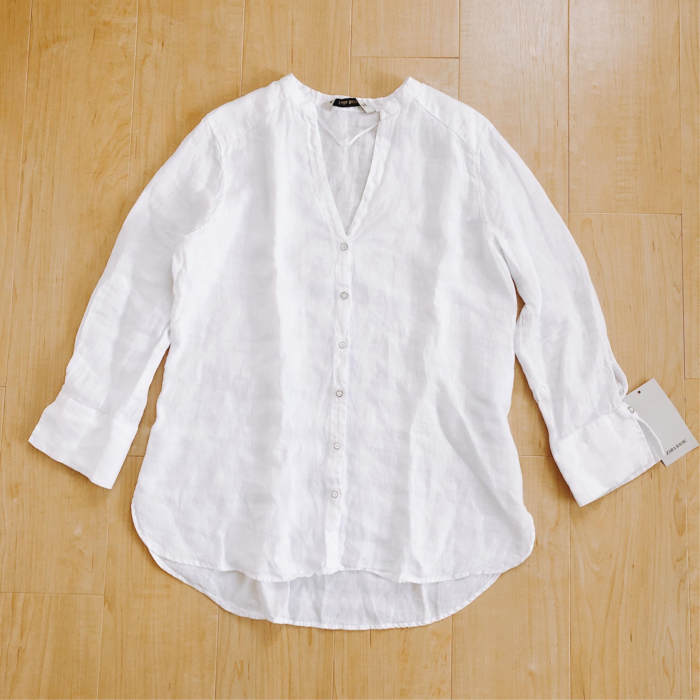 今年はZARAのリネンシャツにアップデート。_1_1