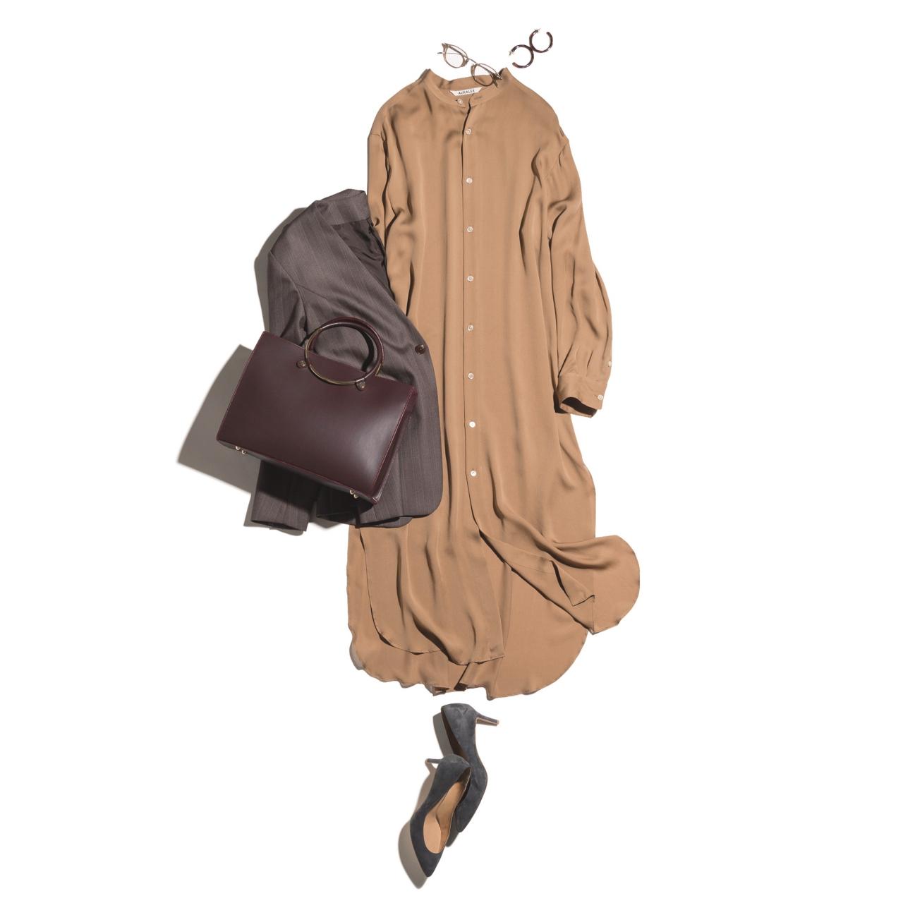 40代のためのシャツワンピース着こなし実例集|アラフォーファッション_1_9