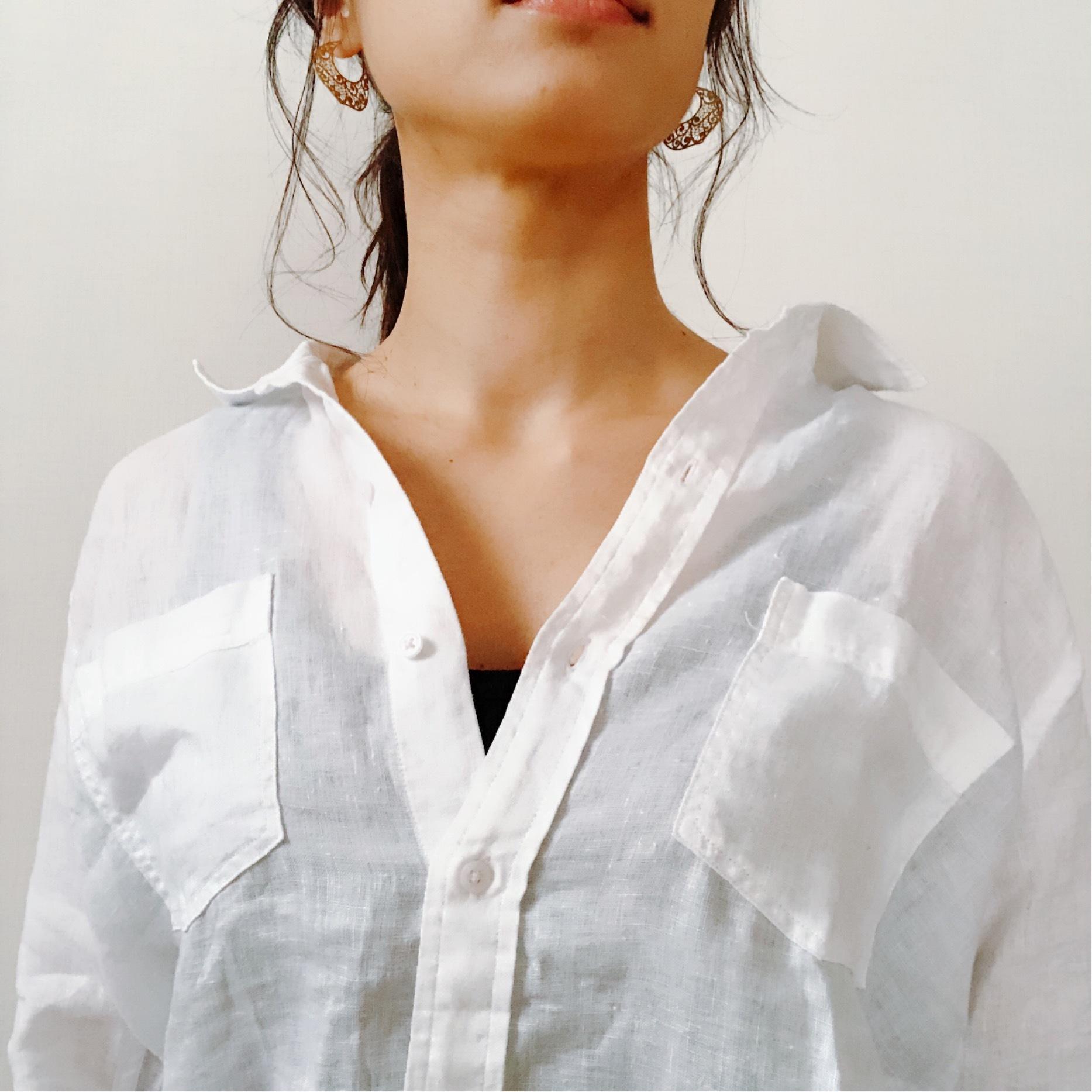 今年はZARAのリネンシャツにアップデート。_1_4