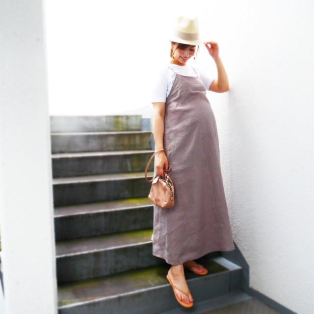 夏のアラフォー妊婦にリネンワンピースが使える!_1_3