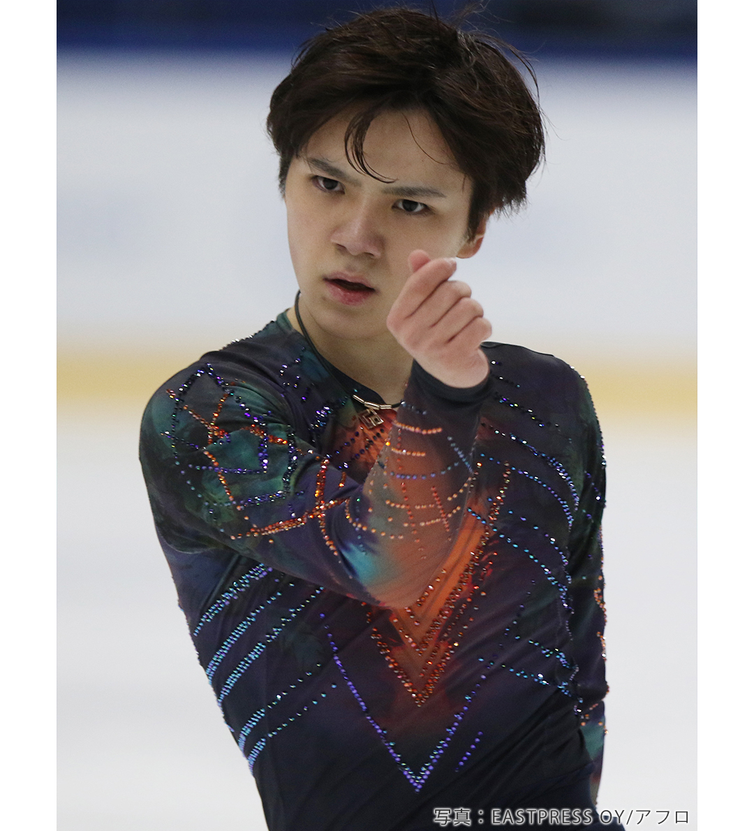 「Great Spirit」を披露するフィギュアスケート男子シングル宇野昌磨(うのしょうま)選手