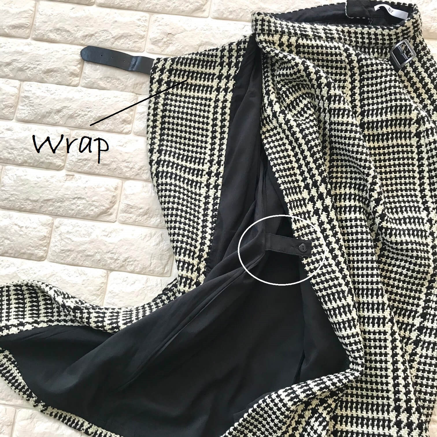 SLYのスカートのラップ部分画像
