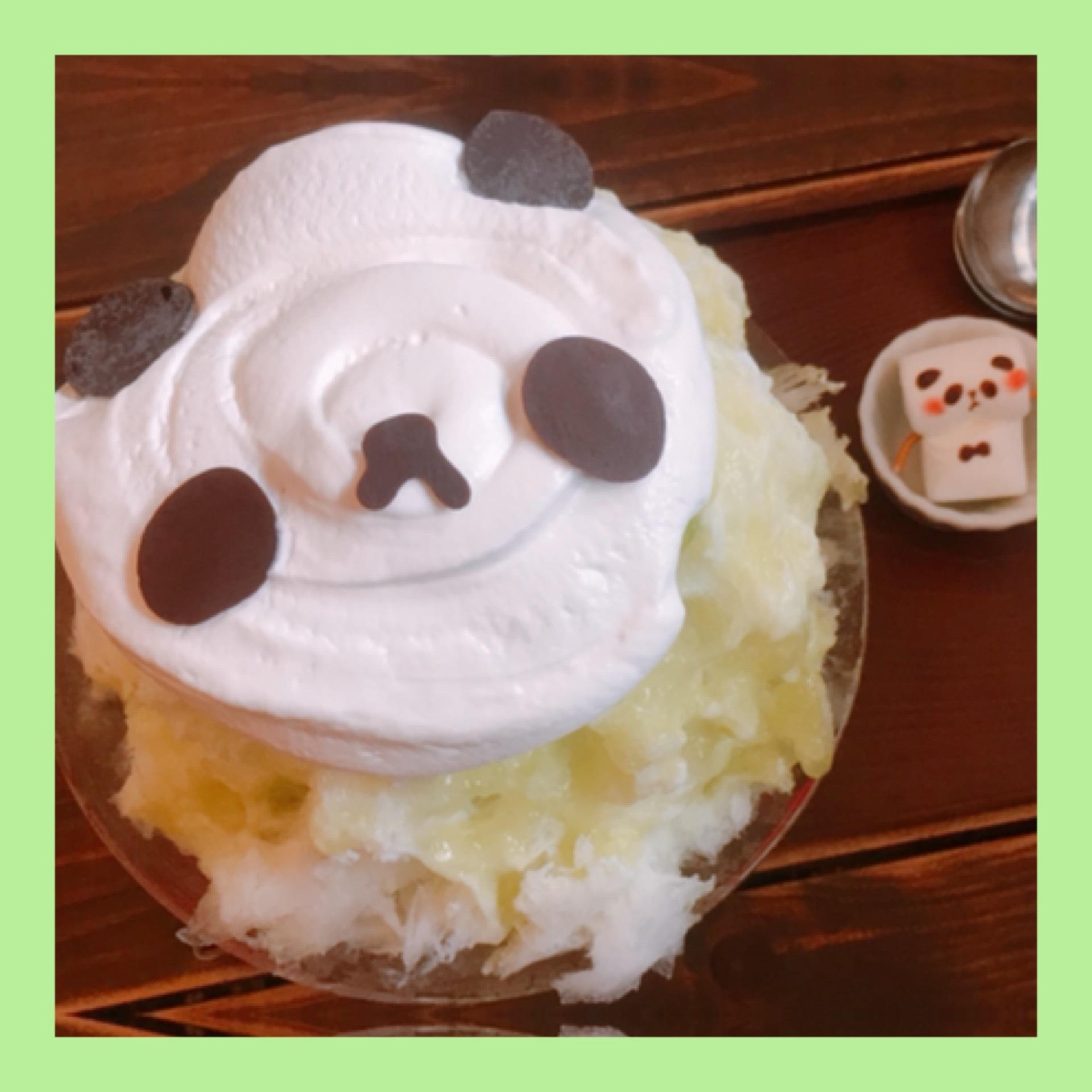 【サカノウエカフェ】メロンパンダ!?かき氷♡♡♡_1_2