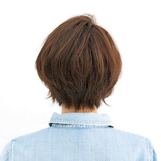 アシメのフォルム、外ハネ毛先。 老けないショートには技がある【40代のショートヘア】_1_3