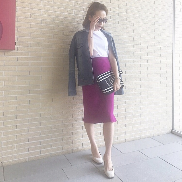 甘さとアラフォーのいい関係、今度はピンクのスカートで。_1_3-1