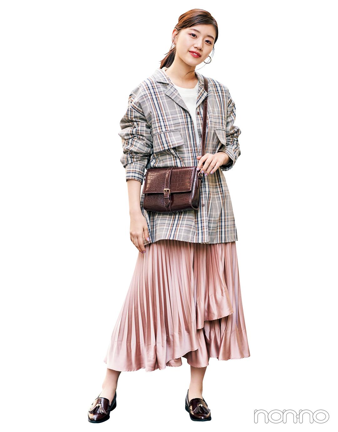 【大学生のための着倒しアイテム】スカートはこの素材感で今っぽく♡ _1_6