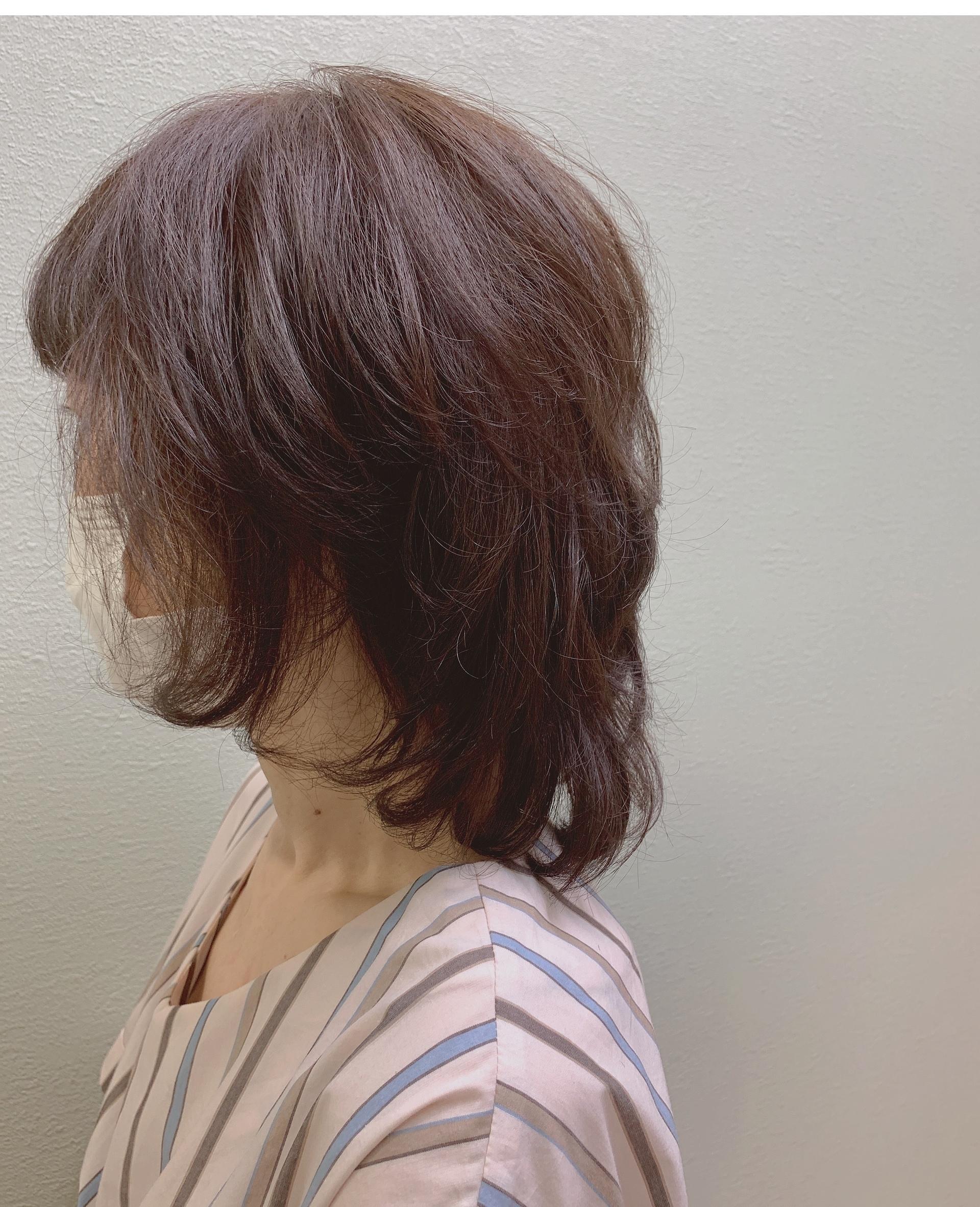 アラフィー世代 髪型 ヘアカラー