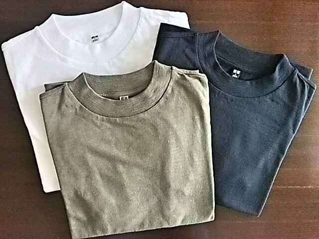 ユニクロのTシャツ。私はスラブハイネック派。_1_1