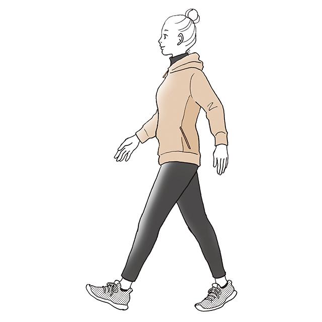 ゆっくり歩き3分