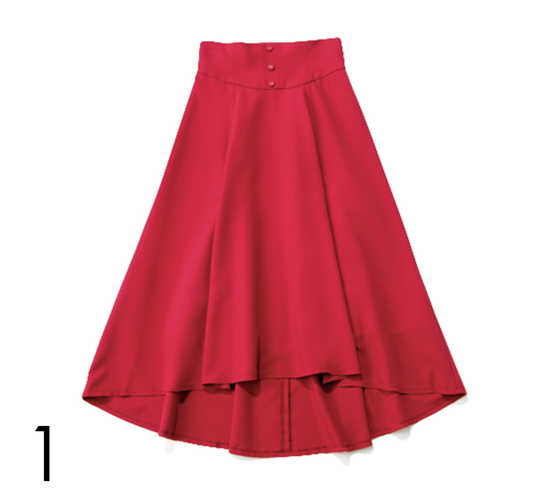 夏だからはきたい! カジュアル派の今っぽ赤スカート4選_1_4-1