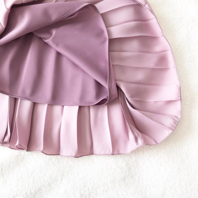 見つけた!理想的な大人ピンク♡ツヤありプリーツスカート_1_3