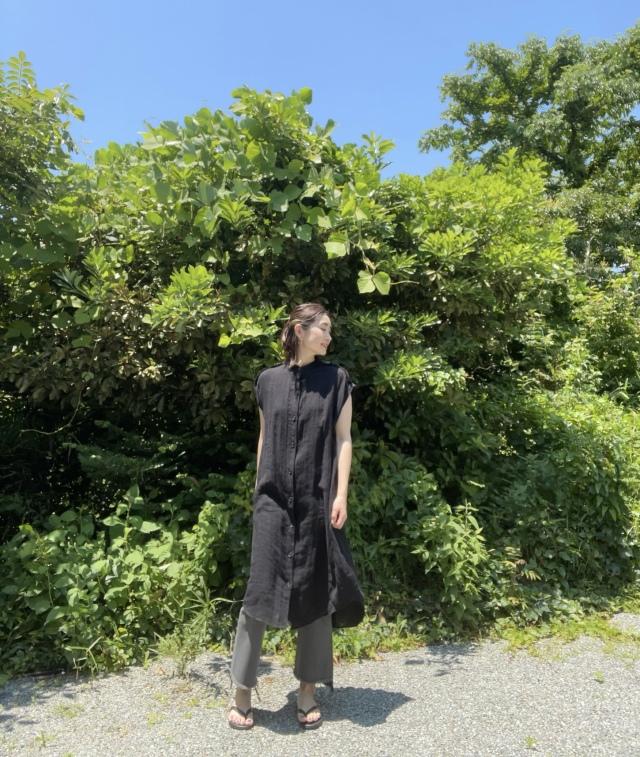1枚2役。リネンで涼しい『ZARA』のロングシャツ。_1_5