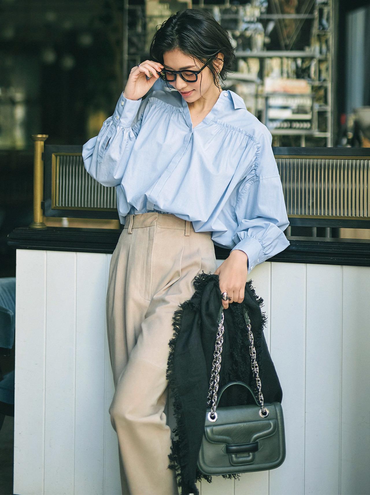 この春のHIT服「シャツ」をアラフォーはこう着る!最旬シャツコーデまとめ|40代ファッション_1_11