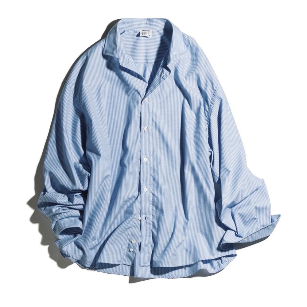 ファッション ベースレンジのビッグシルエットシャツ