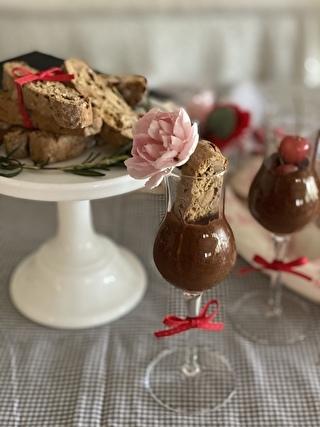 オリーブオイルのチョコレートムース
